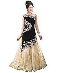Shree Plus Black Color Embroidery Work Gown