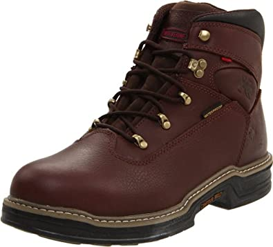 "Wolverine Men's Buccaneer 6"" Contour Welt / Waterproof Boot,Dark Brown,7 M US"