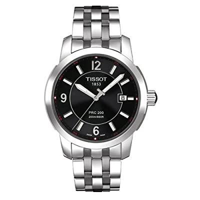 Tissot Men's T0144101105700 PRC 200 Black Dial Watch