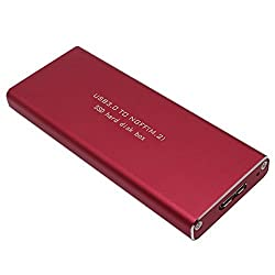 SNANSHI USB 3.0 to NGFF M.2(B Key SSD Only) SSD Hard Disk Box External Enclosure Case Red