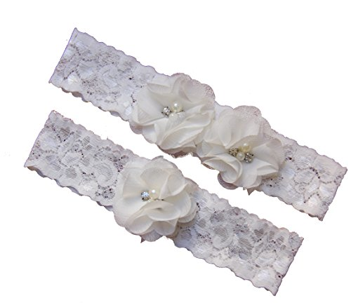 Ivory Wedding Garter Set ,Classic Series, Lace Vintage White Prom Bridal Gift