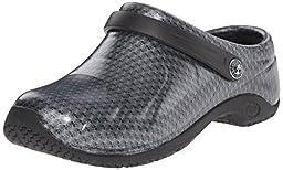 Cherokee Women\'s Zone Work Shoe, Black Silver Pattern, 9 M US