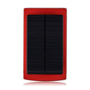 Patuoxun 10000mAh Solar Panel Charger Power Bank Portable Dual USB Charger Backup External Battery Pack Charger for iPhone 5S 5C 5 4S 4 iPods iPad 5 4 3 2 Mini Samsung Galaxy S5 S4 S3 S2 S1 Note 3 Note 2 Nexus 7 Sony Xperia Z2 Z1 L39H Z L36h Blackberry Z10 Nokia Lumia 1020 Motorola HTC One M8 Kindle Fire and Most Android Smart Phones and Tablets (Red)