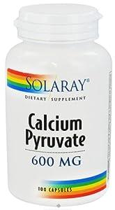 Calcium Pyruvate 600mg Solaray 100 Caps