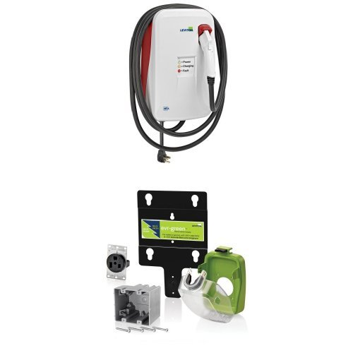 Leviton Evb40-Pst 9.6Kw Surface Mount Charging Station With 50-Amp Pre Wire Kit
