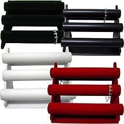 Three Tier Bar Display - black velvet