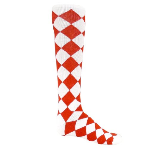 Red Lion Adult Jester All Sport Socks-Red & White-Medium