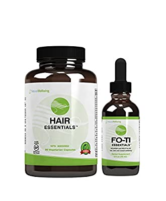 Natural Wellbeing - Hair Essentials + Fo-Ti Combo - Supports optimal follicle function, and hair growth.