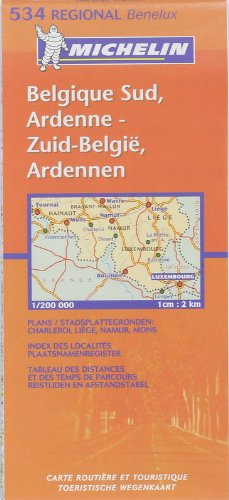 Michelin Map Belgium: South, Ardenne 534