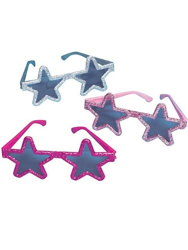 Glitter Star Princess Glasses front-509552