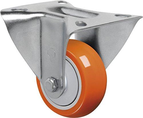 "Schioppa L12 Series, Fl 312 Upe, 3 X 1-1/4"" Rigid Caster, Non-Marking Polyurethane Precision Ball Bearing Wheel, 175 Lbs, Plate 3-1/8 X 4-1/8"" (Bolt Holes 3-1/8 X 2-1/4"") front-262172"