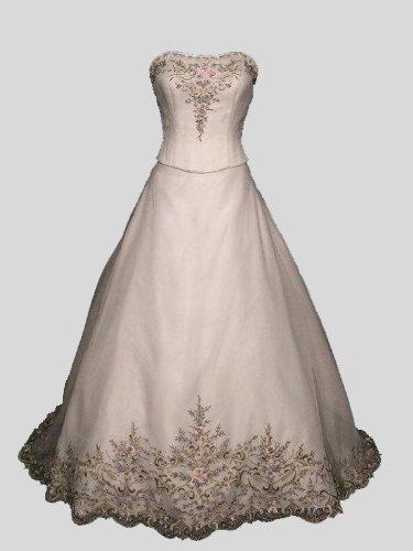 Oleg Cassini Organza A Line Wedding Dress Style Cv008
