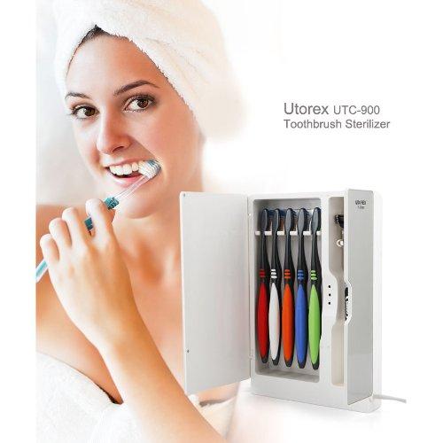 Toothbrush Sanitizer Electric Sterilizer Holder Uv Utorex Utc-9000 White
