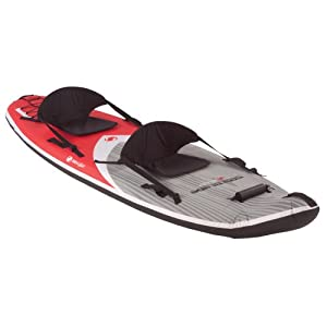 Sevylor sit on top covered inflatable kayak for Best inflatable fishing kayak