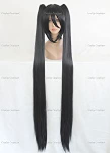 CosplayerWorld Cosplay Wigs Ao no Exorcist Lenalee Lee Wig For Convention Party Show Black130cm 750g WIG-072b02