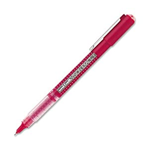uni-ball Vision Exact Stick Fine Point Roller Ball Pens, Red, 12-Pack (60635)