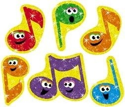Trend Enterprises Inc. Sparkle Stickers Merry Music