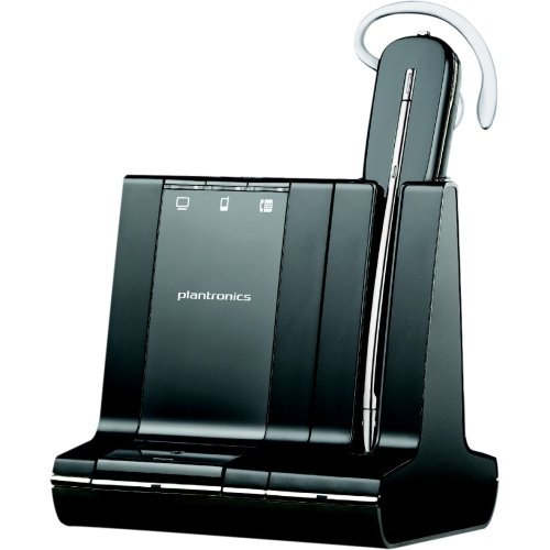 "Plantronics Savi W745. M Headset . Mono . Wireless . Dect . 350 Ft . Over. The. Ear, Behind. The. Neck, Over. The. Head . Monaural . In. Ear . Noise Cancelling Microphone ""Product Type: Audio Electronics/Headsets/Earsets"""