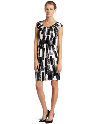 Donna Morgan Womens Cap Sleeve Sheath Dress