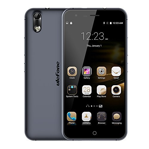 Ulefone Paris Mt6753 Octa-core Unlocked Cell Phones 2G RAM 16G ROM (Black) by UleFone [並行輸入品]