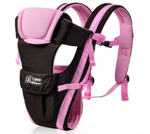 Front Back Baby Kid Toddler Infant Child Newborn Carrier Sling Wrap Pouch Hipseat Braces Backpack Strap Safety Harness Comfort Bag Gear Rider (Pink) front-111089