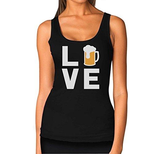 TeeStars - I Love Beer - Gift Idea for Beer Drinkers - Cool Pub Women Tank Top Medium Black