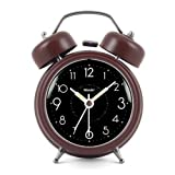 Modern Fashion Lovely Colorful Metal Alarm Clock Brown 817