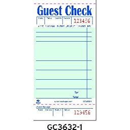 RPPGC36321 - Royal Guest Check Book, 3 1/2 X 6 7/10