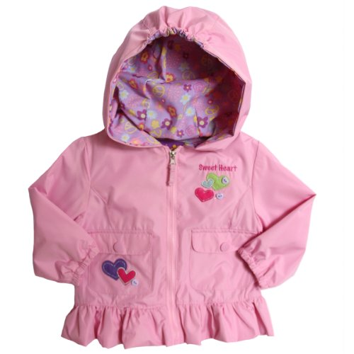 New Pink Platinum Infant Girls (12-24mo) hooded all weather lined jacket - pink