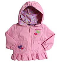 Pink Platinum Infant Girls (12-24mo) hooded all weather lined jacket - pink