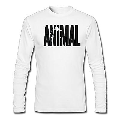 Animal Letter Print Stringer Bodybuilding Men Long Sleeves Shirts T Shirts