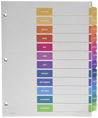 avery ready index template 31 tab - avery ready index table of contents dividers 12 tab