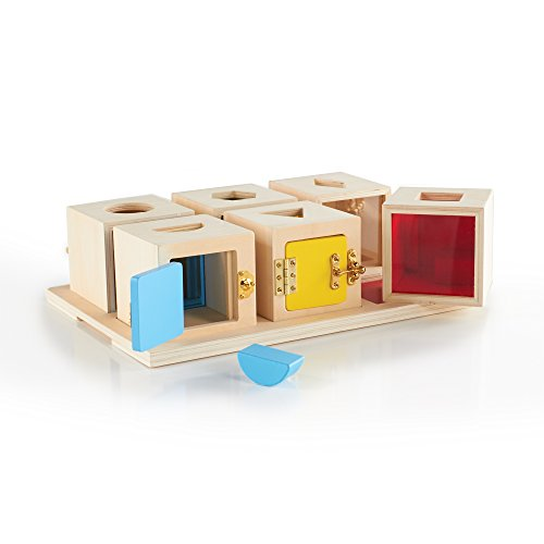 Guidecraft Peekaboo Lock Boxes (Set of 6) - 1