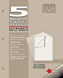 KVD Kleer-Vu Deluxe Albums Inc. N/A Collection, Magnetic refill pages Each pack contains 5 sheets, Mag.