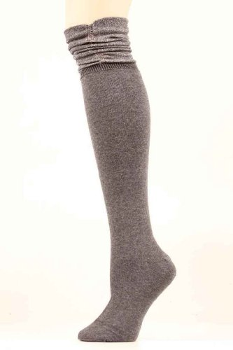 Blazin Roxx Women's Grey Sparkle Knee-High Socks