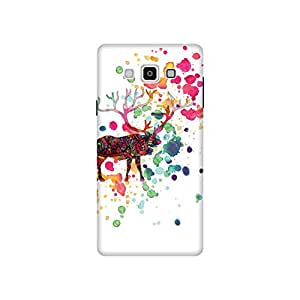 The Racoon Grip printed designer hard back mobile phone case cover for Samsung Galaxy A7. (The Reinde)