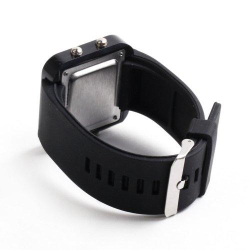 Shopinnov montre led miroir bracelet noir et cadran for Miroir noir review