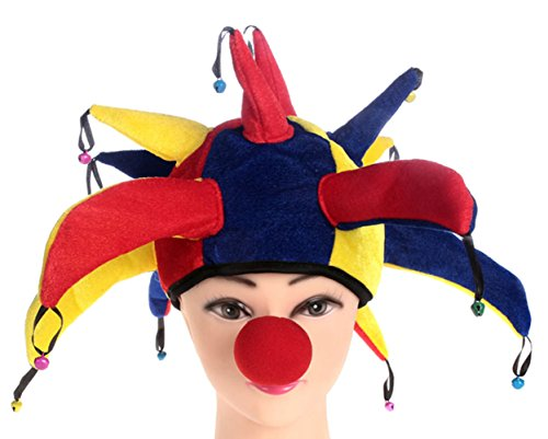 Ace Halloween Adults Children's Kids Funny Clown Hat