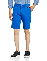 The Indian Garage Co. Men's Cotton Shorts (SHORT601-Ink Blue_32)