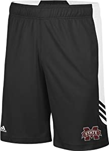 Buy Mississippi State Bulldogs adidas Black Sideline Shorts by adidas