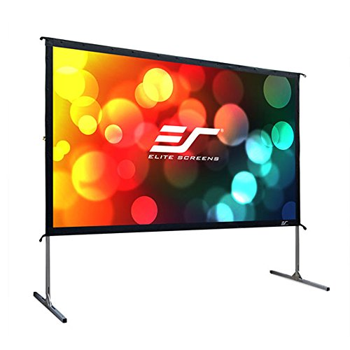 Elite Screens Yard Master 2 Series, 110-inch 16:9, Foldable-Frame Outdoor Rear Projection Movie Screen, OMS110HR2