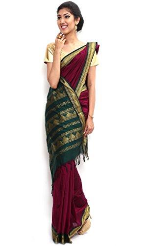 Sudarsahan Silks South Karantaka Span Cotton Silk Saree [SBTI3_Maroon]