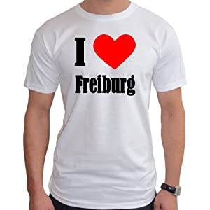 I Love Freiburg Herren T-Shirt