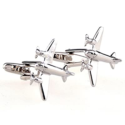 Airplane Plane Commercial Airliner Cufflinks with a Presentation Gift Box