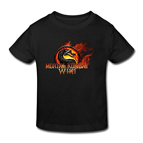 KAKuBA Mortal Kombat Video Games Baby Cool Shirts Cute Tops T-shirt Black