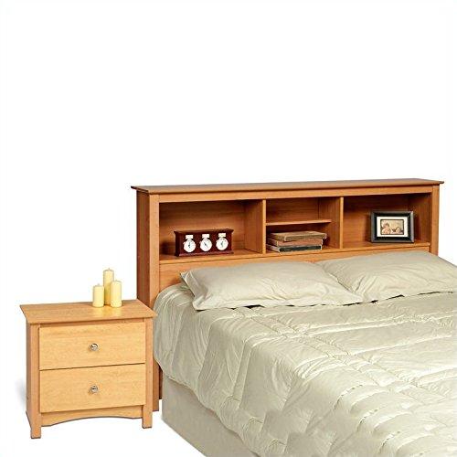 Prepac Sonoma Maple Double or Queen Bed 2 Piece Bedroom Set