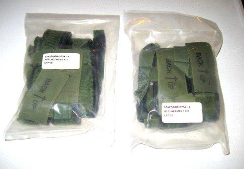 2 Gentex ARMY Lightweight Helmet Sweatband Chin Strap Replacement Kit Large