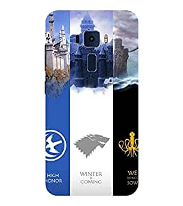 Evaluze game of thrones Printed Back Cover for ASUS ZENFONE 3