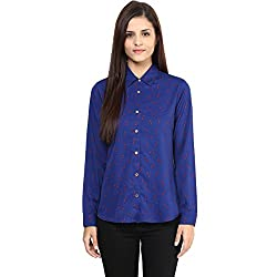 Annabelle by pantaloons Women's Casual Shirt (205000005551374_Blue_XL)