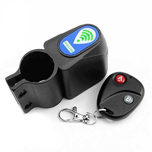 Buwico® Wireless Remote Control Bike Bicycle Alarm Siren Shock Vibration Sensor Cycling Lock Guard Burglar Alarm